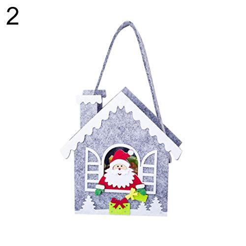 Kuizhiren1 - Decorazioni Natalizie A Forma Di Pupazzo Di Neve, Babbo Natale, Renne, Stelle, Casa, Borsetta E Sacchetto Per Caramelle