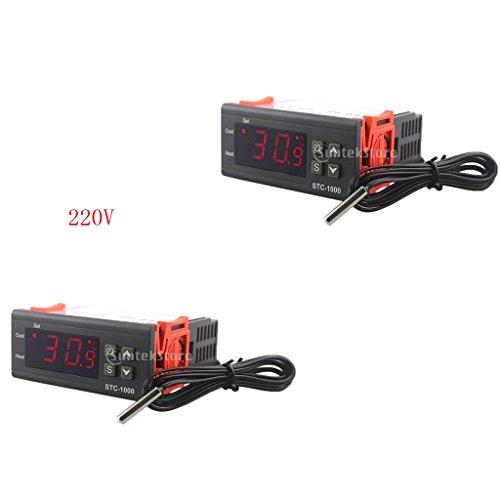 perfk 2x Controlador de Temperatura Digital Termostato Partes Automotrices