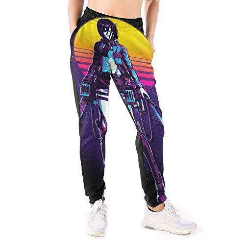 Yaitty Attack On Titan Mikasa Ackerman Pantalones Mujer Funsweatpants Jogger Pantalones Slim Fit Entrenamiento Atlético Correr Pantalones con Bolsillo