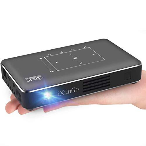 WYJW Mini proyectores Android Hd Ixungo Mini Pocket Smart Teléfono móvil DLP Android Video Proyector con Bluetooth USB, para entretenimiento al aire libre/cine en casa