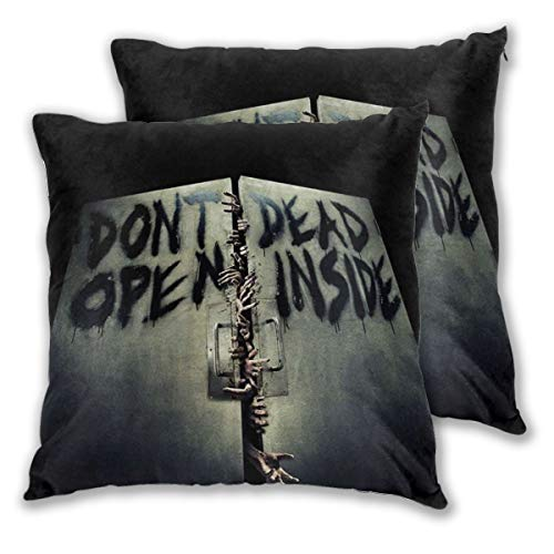 LOSUMIGE Juego de 2 fundas de almohada Zombies Terrible Hands The Walking Dead, funda de cojín decorativa sin almohada de 30 x 30 cm
