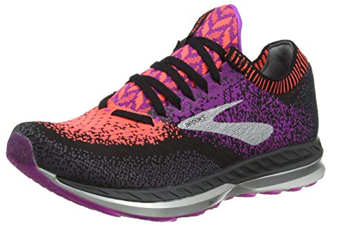 Brooks Bedlam, Scarpe da Running Donna, Multicolore (Black/Purple/Coral 080), 39 EU
