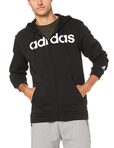 adidas Herren Commercial Full Zip Fleece Kapuzen-Jacke, Black, L