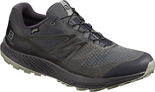 Salomon Herren Trailrunning-Schuhe, SENSE ESCAPE 2 GTX, Farbe: schwarz (Ebony/Black/Monument), Größe: 41 1/3