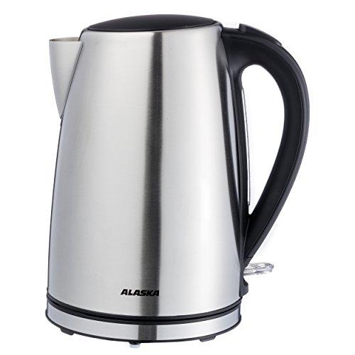 Wasserkocher WK 2240 S | Edelstahl | 1,7 Liter | Anti Kalk Filter | Kabelaufwicklung | Wasserstandsanzeige | Kontrollleuchte | Abschaltautomatik | Überhitzungsschutz | 2.200 Watt