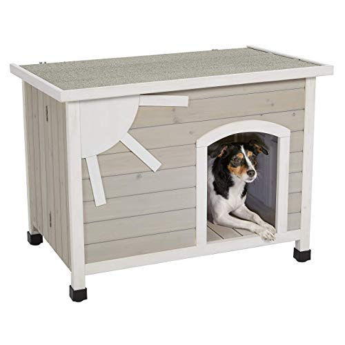 MidWest Homes for Pets Eillo Folding Outdoor Wood Dog House, No Tools Required for Assembly | Dog...