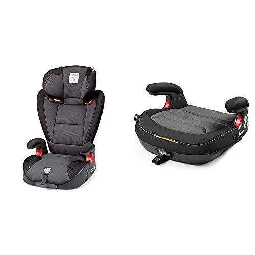 Peg Perego Seggiolino Auto Viaggio 2-3 Surefix, Black + Peg Perego Seggiolino Auto Viaggio 2-3 Shuttle, Crystal Black