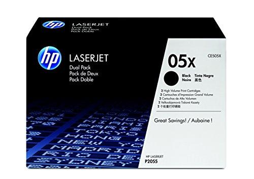 HP 05X Schwarz 2er-Pack Original LaserJet Tonerkartusche mit hoher Reichweite