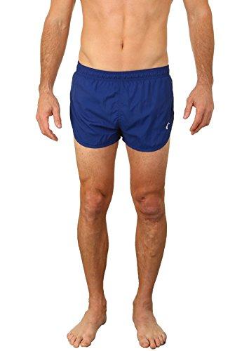 UZZI Men's Basic Running Shorts Swimwear Trunks Navy (Medium)