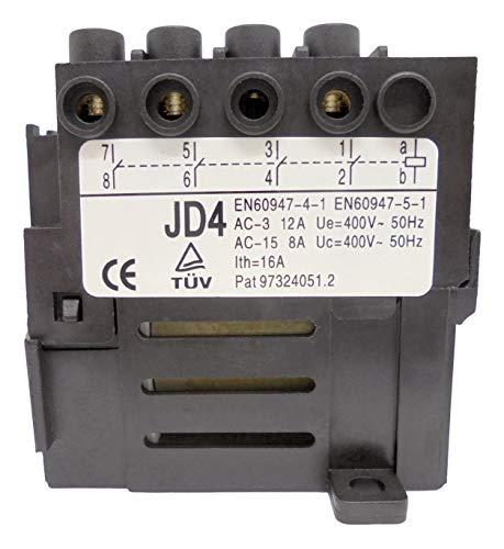 Contactor de motor (relé) KEDU JD4 con 4 contactos 400V 50Hz