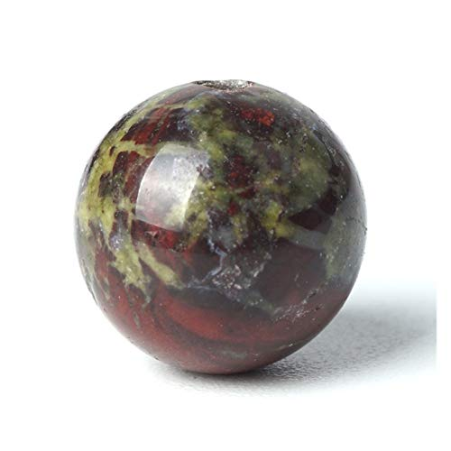 HETHYAN Cuentas de piedras preciosas naturales de dragón, piedras de sangre sueltas, cuentas de 4/6/8/10 mm, piedras de jaspe rojo y verde (tamaño: 6 mm, 63 unidades)
