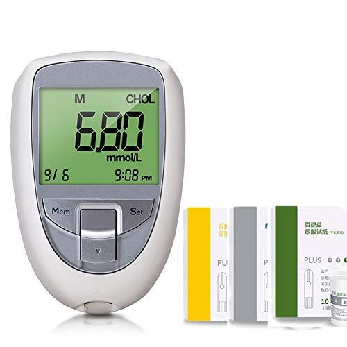 Enkelt att Använda Hemtest Multifunktion 3 I 1 Kolesterol Tester Kit, Urinsyra Tester Och Diabetes Testare Med 85 St Testremsor För Hem Hälsovårdsmaskin