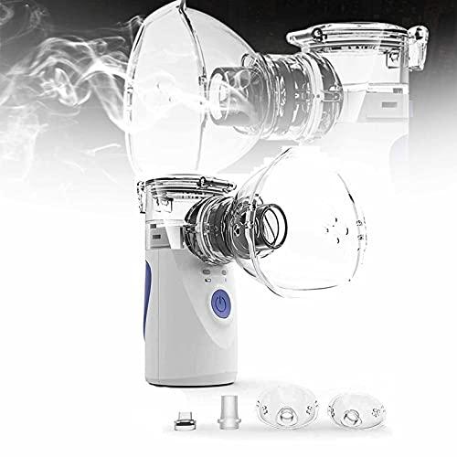 Ultrasonic Portable Nebulizer, Portable Inhaler Machine Mini Handheld, Handheld Mesh Nebulizer, Children Care Inhale, Usb Replaceable Battery Portable Atomizer for Adult and Kids (Blue)