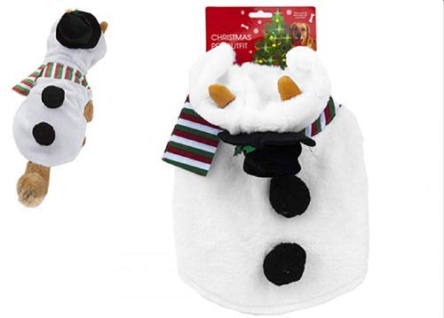 Toyland Christmas Pet Outfit – Perfect for Dogs and Cats – Reindeer, Snowman – Novelty Christmas Dress Up (Snowman)
