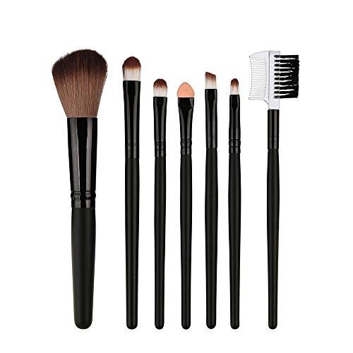 7 Cils Manche En Bois Brosse De Fard à Paupières Rouge Maquillage Noir 0438 Cheveux Rawdah 7 Pcs Wood Makeup Brush EyeShadow Brush Cosmetics Blending Brush Tool