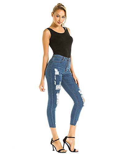 canerze Jeans, Holes-in Stretch-Washed Ladies Jeans