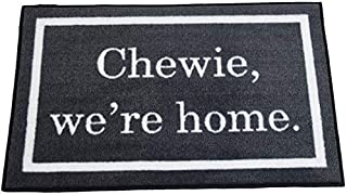FloorMatShop Star Wars Chewie We're Home Funny Novelty Carpet Nylon Indoor Welcome Entrance Mat Approx. 2' x 3' Surged Edge Made in The USA