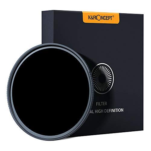 Filtro ND1000 K&F Concept Filtro Ultravioletto Multiresistente Rivestito per Obiettivo Canon Nikon Sony DSLR Filtro di Protezione Vetro Ottico Ultra Clear Slim Tedesco Schott 58mm-82mm (58 mm)
