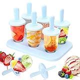 Eisform Eis am Stiel Formen, 6 Eisförmchen Popsicle Formen Set DIY Ice Pop Lolly Popsicle...