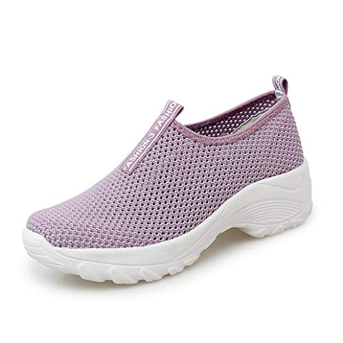 Jwans Damen Trainer Sommer leichte atmungsaktive Plattform Low Top Mesh Sneakers Damen Walking Fitness Sport Freizeit Laufschuhe