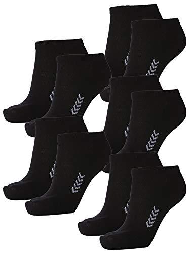 Hummel Unisex Sneaker Sport Socken im 5er Pack I schwarz 41-45