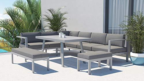 ARTELIA Danila L Aluminium Loungegruppe Loungemöbel Gartenmöbel-Set Sitzgruppe für Garten, Terrasse und Wintergarten…