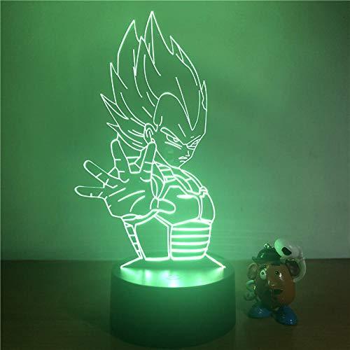 3D LED nachtlampje Z Goku Super Saiyan Action Figure 7 kleuren Touch optische illusie tafellamp decoratie modus