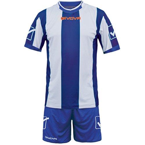 Givova Catalano Completo Calcio, Multicolore (Azzurro/Bianco), M