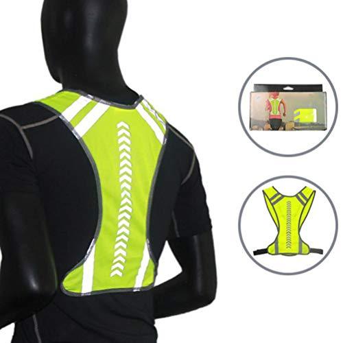 Warnweste Fahrrad, Reflektierende Weste Laufweste Für Nachtlauf Joggen, Höchste Sicherheit, Reflektorweste Fahrrad Fluoreszierende Weste Für Damen Herren