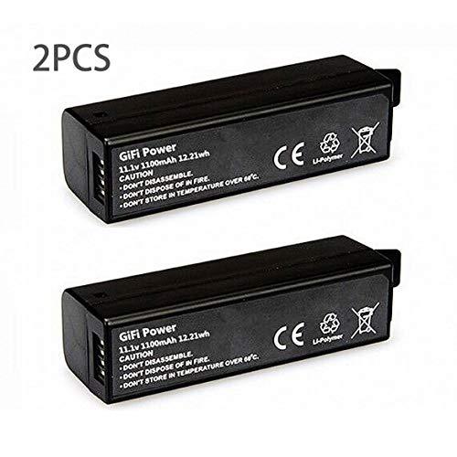 2PCS 1100mAh Batería estándar estándar Lipo de teléfono Lipo Batería para dji OSMO/OSMO Pro/OSMO + / OSMO Mobile (Negro)