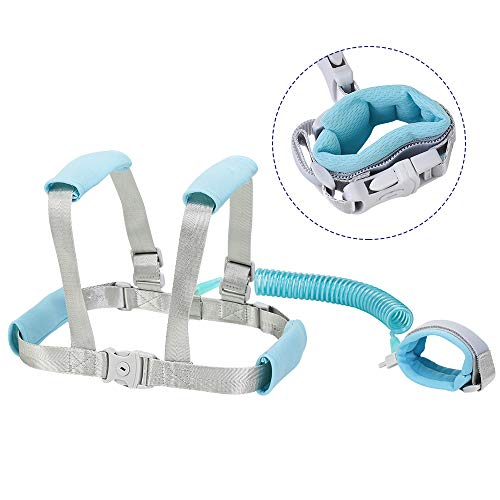 Toddler Safety Wrist Leash and Harness 2in1