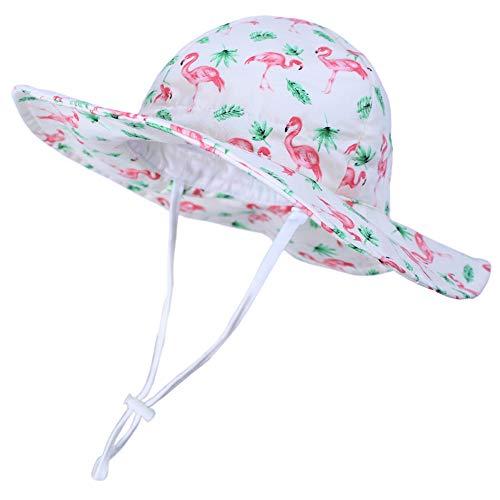 Kids4ever Sonnenhut Baby Sommer UV Schutz Hut mit Verstellbarem Kinnriemen Breite Krempe Sommermütze Atmungsaktiver Niedlicher Muster Fisherhut Strand Sonnenhüte Freizeithut