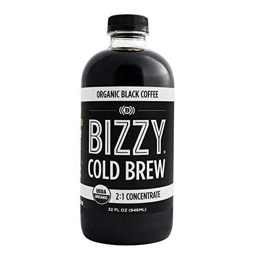 Bizzy Organic Cold Brew Coffee | Concentrate | Makes 12 Cups | 32 oz - 1 Pack