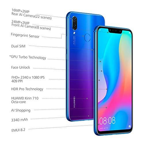 Huawei Nova 3i (Iris Purple, 4GB RAM, 128GB Storage)