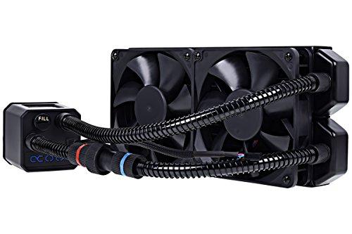 Alphacool 11285 Eisbaer 240 CPU - Black - All in One CPU-Wasserkühlung Sets und Systeme, 2x120mm Lüfter, Individuell über Schnellverschluss erweiterbar