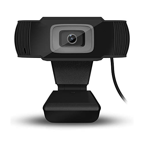 HD Webcam 1080P Streaming Web Camera with Microphones, Laptop or Desktop Webcam, USB Computer Camera for Mac Xbox YouTube Skype, Autofocus Webcam for Conferencing, Free-Driver Installation, Black