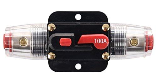 Wisamic 100A 100AMP Automatiksicherungshalter Sicherungshalter Halterung Automat 12V-24V DC