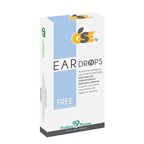 GSE EAR DROPS FREE Otologie Oorbellen, zwart, Solution 10 stuks