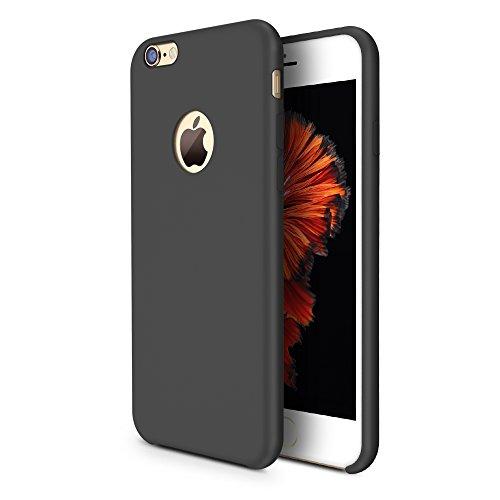 TORRAS [Love Series iPhone 6S Plus Case/iPhone 6 Plus Case, Liquid Silicone Rubber Gel Soft Microfiber Cushion Shockproof Case Compatible with iPhone 6 Plus/iPhone 6S Plus, Black