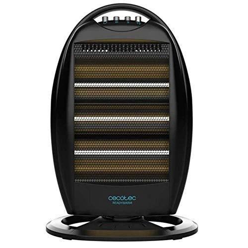 Cecotec Radiador de Cuarzo Ready Warm 7100 Quartz Rotate. 3 Potencias, Oscilación, Rejilla de Seguridad, Sistema Anti vuelco, 1200 W