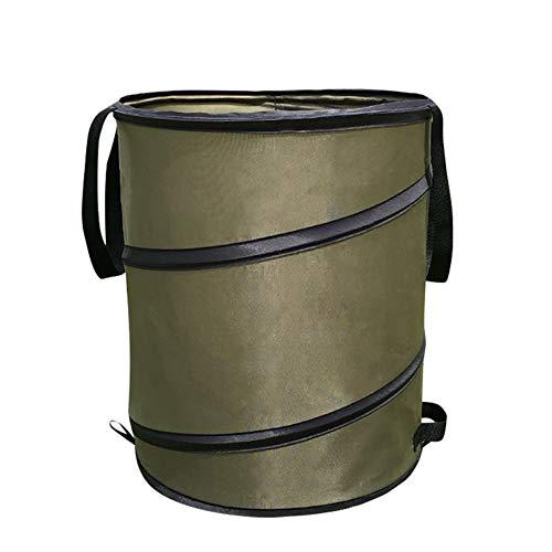 heshuo Bolsa de almacenamiento de basura portátil plegable para jardín, hojas de...