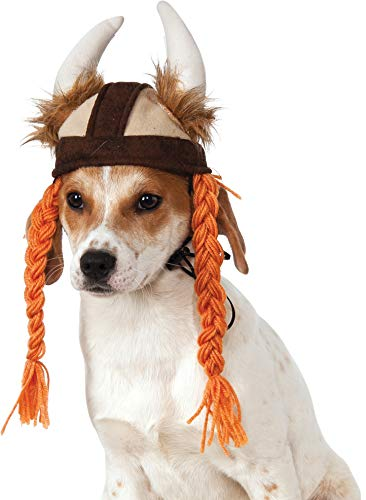 Rubie's Viking Hat with Braids for Pets, Medium/Large, Multicolor