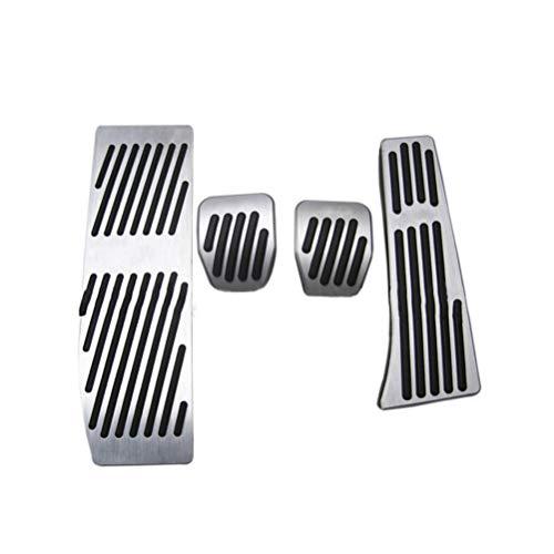 Coche goma antideslizante aluminio Juego de pedales Antideslizante tapa Pedal para X1 E30 E36 E87 E46 E90 E91 E92 E93 (MT)