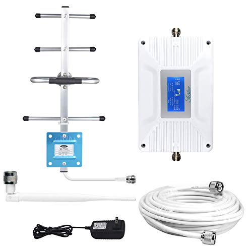 AT&T Verizon Cell Signal Booster Multi Bands Cell Phone Signal Booster Amplifier Home 4G LTE Dual 700mhz Band 12/17/13 AT&T Verizon Signal Booster Cell Extender Booster,LCD Screen,2000 sq ft Whip+Yagi