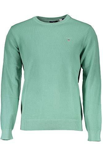 GANT Herren Pullover Cotton Pique Crew grün (43) XXL