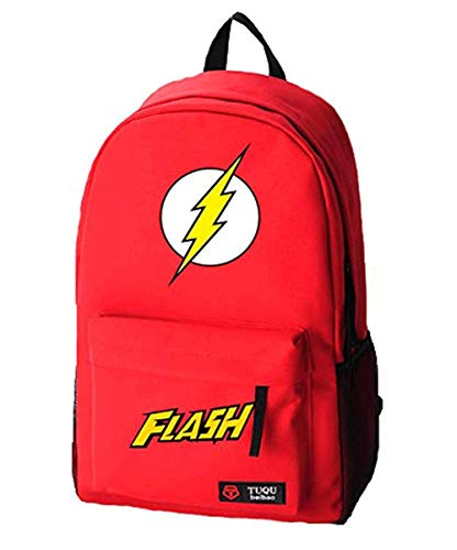 Mokago The Flashs Logo Backpack Durable Cosplay Red Backpacks (RED)