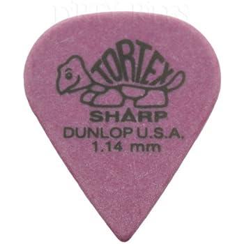 Dunlop 427P Ultex Sharp Lot de 12 m/édiators//plectres 0,90 mm dans une bo/îte de rangement pratique