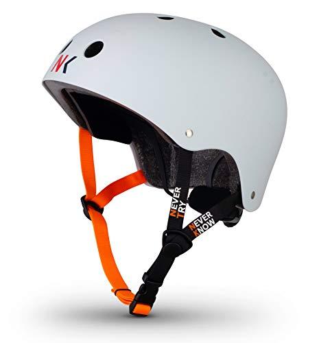 NTNK N11 White · BMX Fahrrad-Helm Skater E-Roller Inliner Scooter · Kinder & Erwachsene · S (48-52cm)