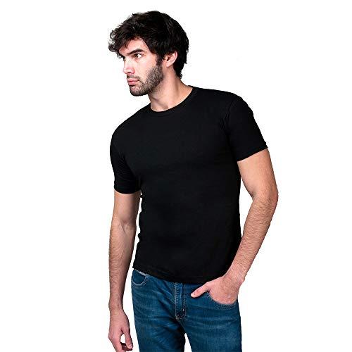 Camiseta Básica Masculina T-Shirt 100% Algodão Preta (P)