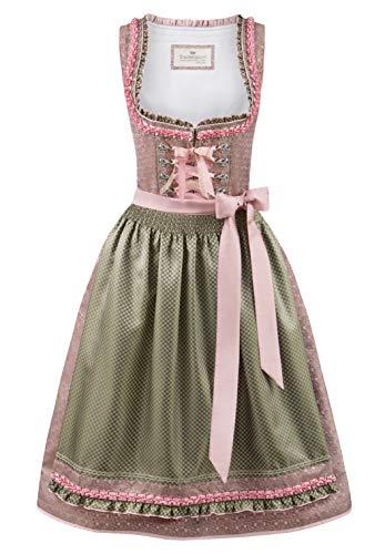 Stockerpoint Damen Dirndl Julia Kleid für besondere Anlässe, Rose-grün, 34